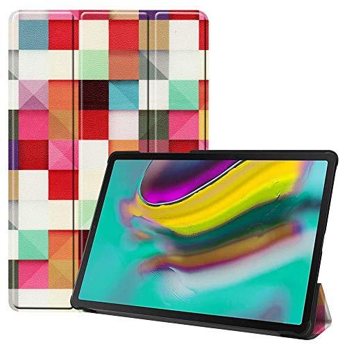 QINYUP Adecuado para Samsung Galaxy Tab S6 Lite 10.4P610 P615 Cubierta Protectora Pintada tríptica-Tab A 8.0 T290 / T295