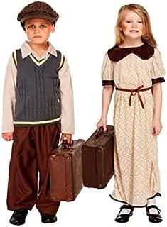 Fancy Me Big Girls' Ww Ww Wartime Evacuee Refugee Fancy Dres Costume Outfit