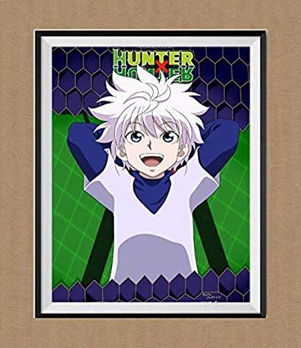 YEAHTOPE Bounty Hunter Killua Hunter X Hunter - Lienzo de anime japonés para decoración del hogar, 20,3 x 25,2 cm, sin marco