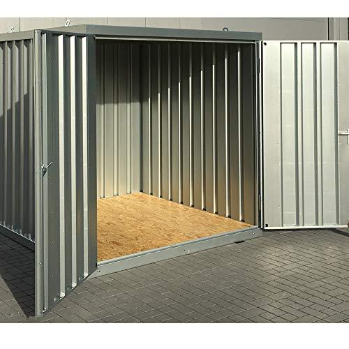 *Materialcontainer Lagercontainer Schnellbaucontainer 210cm x 210cm x 210cm mit Kranösen und Doppelflügeltür Industrie Qualität*
