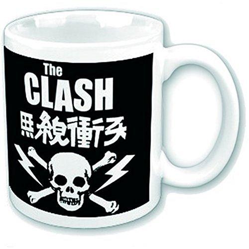 The Clash - Rock Band - Premium Keramik Tasse - Logo - Geschenkbox