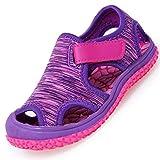 JACKSHIBO Girls Boys Closed Toe Sandal Toddler Water Sandals Indoor Outdoor Lightweight Summer Shoes Purple 10.5-11 Little Kid