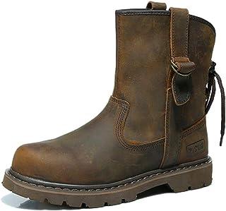 Z.SUO Mode Cuir Boots,Bottes Femme Homme Mixte Adulte