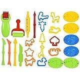 kissral 26pcs Accessoires Pate a Modeler Moule pour Pâte Play Doh Pate à Modeler Accessoires pour Pate a Modeler Play-Doh Convient aux Garçons et aux Filles