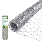 AMAGABELI GARDEN & HOME Fence Wire 36 Inch 50 Foot Mesh 1/2 Inch Hexagonal Poultry Netting 23guage Gutter Guards Chicken Run Rabbit Fencing to Keep Out Racoons Gophor Snakes