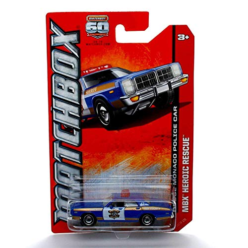 Matchbox Dodge Monaco Police CAR MBX Heroic Rescue 60th Anniversary 2013 Basic Die-Cast Vehicle (#110 of 120)