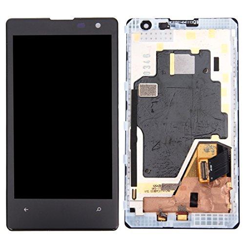 Leluckly1 Reemplace el Viejo para Nokia Pantalla LCD de Repuesto + Marco + Touch Pad + Marco Frontal Pantalla LCD + Panel táctil con Marco for Nokia Lumia 1020 (Negro) para Nokia
