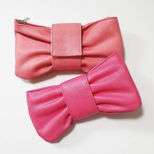 可愛い リボン型のペンケース筆箱 ペンポーチ (Pink)