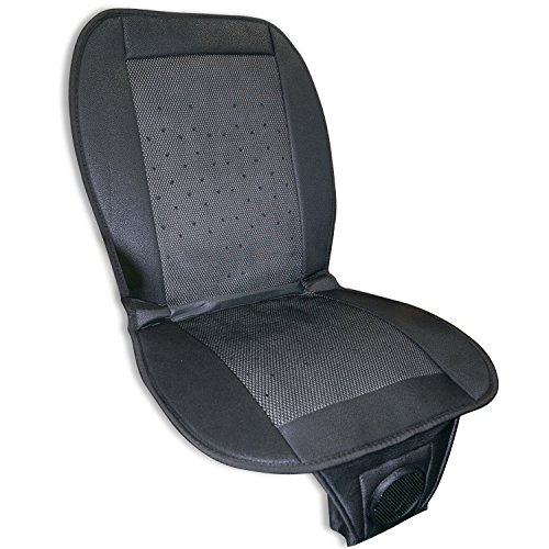 CLEARON Cool Car Seat Covers - Car seat Cooling Pad with Air Cooling Truck Seat Cooler - Cooling Seat Cushion with Adjustable Temperature Control Fan for Air Conditioned Seats