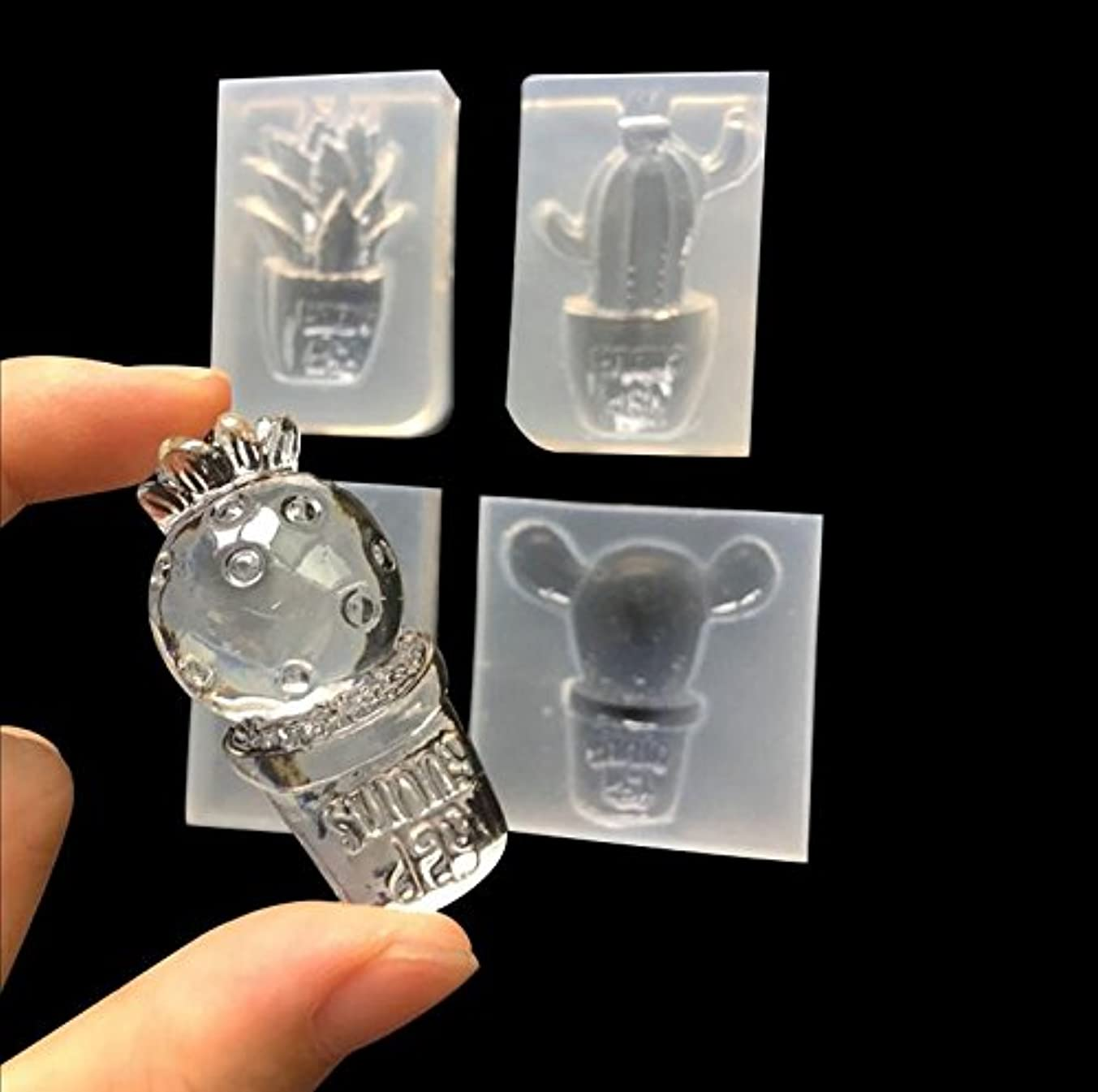 Welcome to Joyful Home 4pcs/Set Cactus Silicone Mould DIY Resin Decorative Craft Jewelry Making Mold epoxy Resin molds