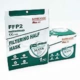 20 Mascarillas filtrante de partículas FFP2 NR, certificado...