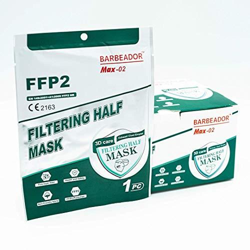 20 Mascarillas filtrante de partículas FFP2 NR, certificado CE2834, 20 unidades, en envase individualizado