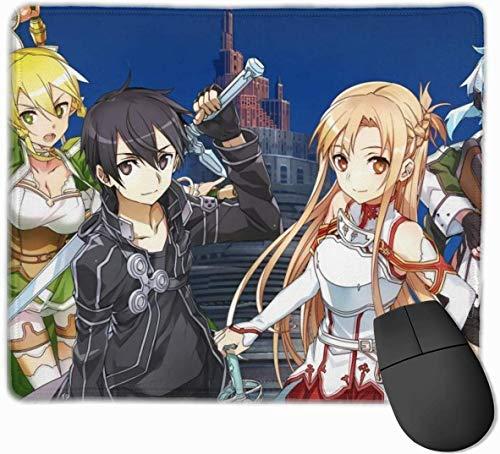 Sword Art Online - Alfombrilla de ratón para juegos (goma, antideslizante, 25 x 30 cm)