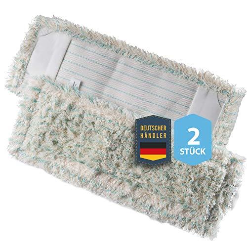 Housse de vadrouille pour PARQUET & LAMINATE - housse de rechange en microfibre de coton DOUBLE PACK SET pour porte-vadrouille pliable 40 cm MADE IN GERMANY, serpillière pour sols stratifiés