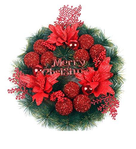 Find Cheap LAOHAO Christmas Door Hanging Wreath High-Grade Pine Needle Christmas Wreath Red Garland ...