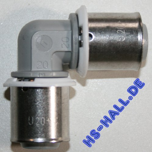 Uponor Winkel Presse bestehend aus Bogen MLC 20 Kunststoff PPSU