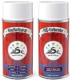 Set 1: 2 x 150 ml, Pintura de Vinilo y Limpiador de Cuero sintético de Vinilo Apto para Ferrari Crema, para teñir Asientos de Piel sintética y Todos los demás plásticos Lisos (Excepto PP)
