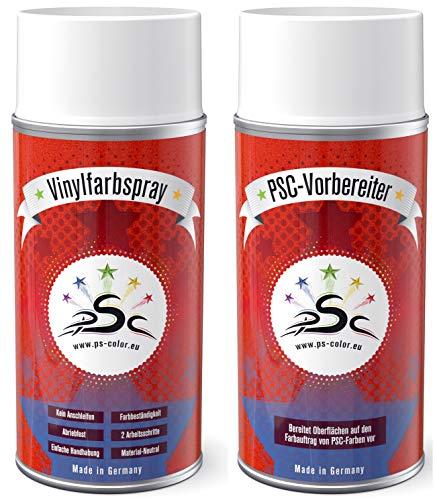Set 1: 2 x 150 ml vinylverf spray mintgroen RAL 6029 & kunstleer vinyl reiniger voor het kleuren van kunstlederen stoelen en alle andere gladde kunststoffen (behalve PP)