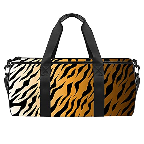Tiger Animal - Borsone cilindrico da viaggio, con tasca bagnata, leggera, da viaggio, con tracolla, per uomo e donna