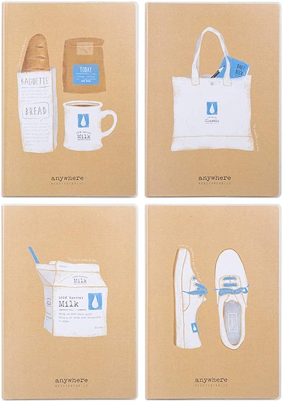 Kaiyu Tagebuch Buch Einfache Einfache Einfache College Stationery Stationery Rubber Sleeve Notebook Notebook (4 Packs) (Farbe   2) B07MP346NN | Neuartiges Design  | Vorzügliche Verarbeitung  | New Listing  4089d7