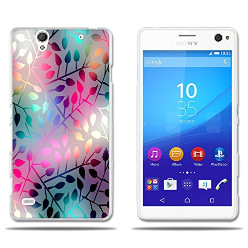 FUBAODA für Sony Xperia C4 E5303 Hülle, [Semi-Permeable Glass] Silicon Clear TPU Minimalist Cute Eule Design Schock Absorbing Protector für Sony Xperia C4 E5303