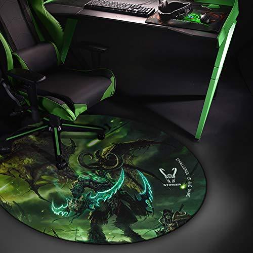 Woxter Stinger Floorpad Green - Tappetino da gioco da pavimento, materiale per rivestimento del pavimento - Resistente all'acqua, lavabile, 100% microfibra, diametro 120 cm, colore verde