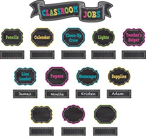 Teacher Created Resources Chalkboard Brights Classroom Jobs Mini Bulletin Board (TCR5653)