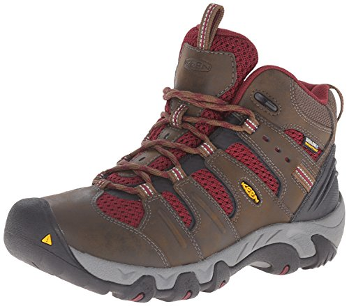 KEEN Women's Koven Mid Wp Outdoor Boot, Cascade Brown/Zinfandel, 5 M US