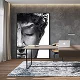 JLFDHR Poster e Dipinto 60x90cm Senza Cornice Nordic Bianco e Nero Testa di David Scultura Immagini Soggiorno Decorazione della casa