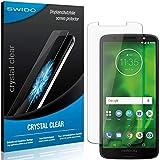 SWIDO Schutzfolie für Motorola Moto G6 [2 Stück] Kristall-Klar, Hoher Festigkeitgrad, Schutz vor Öl, Staub & Kratzer/Glasfolie, Bildschirmschutz, Bildschirmschutzfolie, Panzerglas-Folie