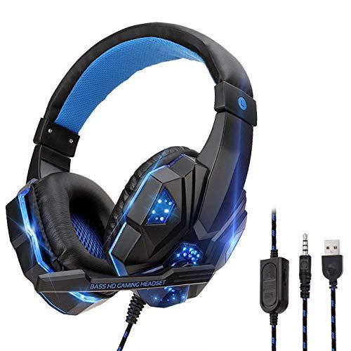 YOUPECK Auriculares Gaming, Cascos Gaming de Estéreo con Micrófono con Cancelación...