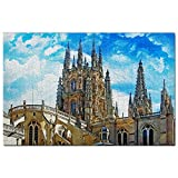 スペインジグソーパズル1000ピーススペインブルゴス大聖堂パズルゲームアートワーク旅行お土産木製
