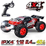 RC Car, VATOS 1/12 Remote Control Car 4WD 40+KM/H High Speed Off Road Monster Truck Rock Crawler Electric Buggy Desert Best Christmas Birthday Gift Hobby RC Vehicle Toys for Boys Adults with LED Light