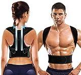 Doact Corrector de Postura, Corrector de Postura Espalda con Hombreras Blandas y Cinturones Elásticos Ajustables para Hombre y Mujer Cifosis, Jorobado M(31'-41')