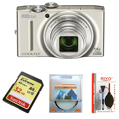 Nikon Coolpix S8200 Digitalkamera (16 Megapixel, 14-fach opt. Zoom, 7,5 cm (3 Zoll) Display, Full-HD-Video, bildstabilisiert) silber