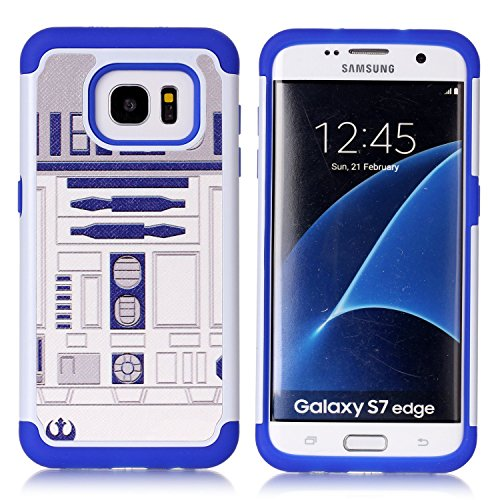Sunshine - Tech Galaxy S7 Edge Case, R2D2 Astromech Droid Robot Pattern Shock-Absorption Hard PC and Inner Silicone Hybrid Dual Layer Armor Defender Protective Case Cover for Samsung Galaxy S7 Edge