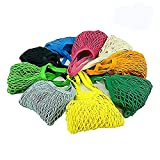 Confezione da 4sacche porta ogetti a rete, riutilizzabili, in cotone, busta per la spesa, frutta e verdura (multiuso e portatile) Random Color