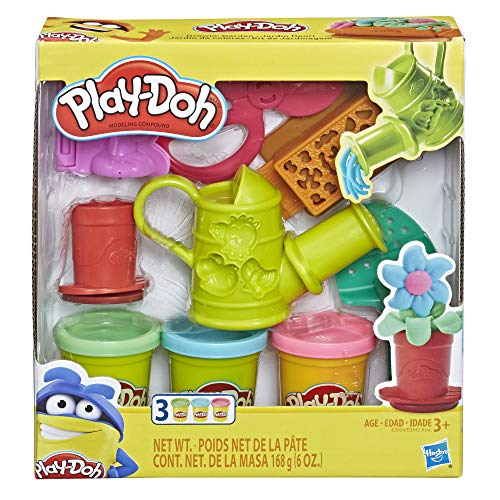 Play-Doh Growin' Garden Toy Gardening Tools Set for Kids with 3 Non-Toxic...