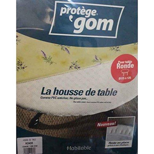 Sous nappe gom ronde élastiqué 1m35 pour une table de 1m15 à 1m25 - Protège TABLE ROND - housse de table
