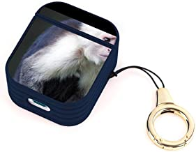 AirPods Case Capuchin Monkey Fashion Cute Magnetic Cover Shockproof AirPods Charging Box Full Protective Shell with Lanyard Buckle