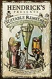 JuYiCk Cartel de metal para decoración de ginebra de Hendrick's 20 x 30 cm, para oficina, hogar, aula, baño, decoración, regalo para amigos