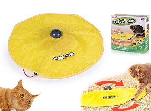JNS Jouet électronique en tissu pour chat avec souris