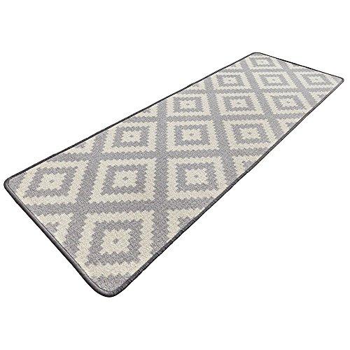 Bavaria Home Style Collection – Moderner Design Küchenläufer | 67 x 180 cm | Farbe: Grau