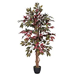 Height ca. 135cm (4ft) approx. Very lifelike appearance natural stem/trunk silk flowers and realistic leaves make this a high quality replica plant. These are manufactured with the latest technology which makes it look very real and difficult to tell...