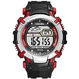 xiaoxioaguo Uomo Led orologio digitale orologio sveglia impermeabile Led sport maschio orologio top lusso sport orologio maschio BlackRed