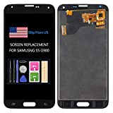 TFT For Samsung Galaxy S5 Screen Replacement G900 G900A G900P G900FD G900V G900T LCD G900M G900F G900H Display Touch Assembly Matrix Repair Parts Sensor Digitizer Glass Kit (Not AMOLED) (TFT Black)