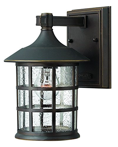 Hinkley 1800OZ Traditional One Light Wall Mount from Freeport Collection Dark Finish, Small, Oil Rubbed Bronze