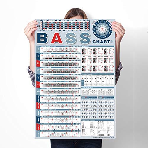 bass chart poster - 2