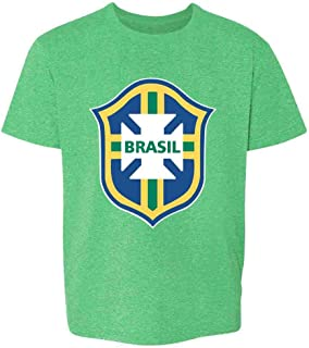 Brazil Futbol Soccer National Team Football Crest Toddler Kids Girl Boy T-Shirt