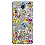 dakanna Funda Compatible con [ Meizu M3 Note ] de Silicona Flexible, Dibujo Diseño [ Patrón Utensilios Costura y confección ], Color [Fondo Transparente] Carcasa Case Cover de Gel TPU para Smartphone